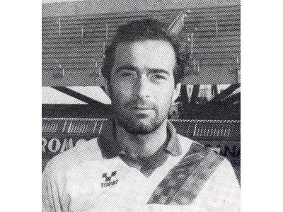 Moreno Solfrini in una foto della stagione 1992-1993 (Foto Sgattoni)