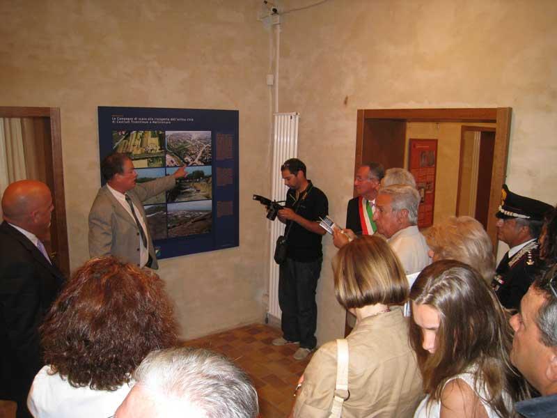 Andrea Staffa effettua la prima visita guidata al museo