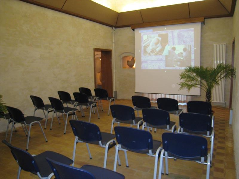 La sala convegni all'interno del museo