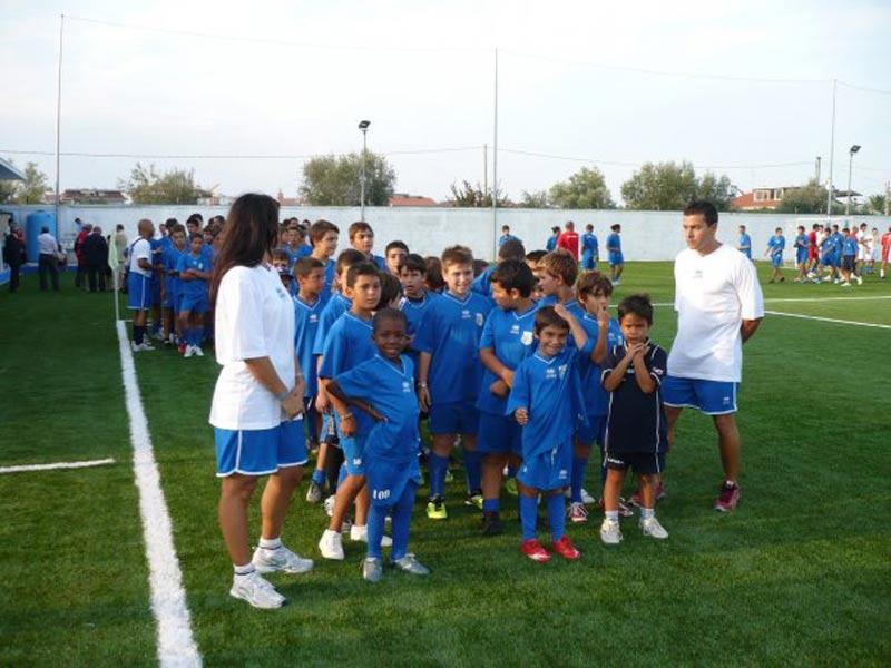 I ragazzi della scuola calcio del Martinsicuro