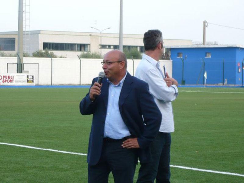 Il presidente dell'Asd Martinsicuro Vincenzo D'Angelo