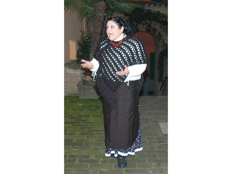 Micaela Liguori a Natale al Borgo 2005