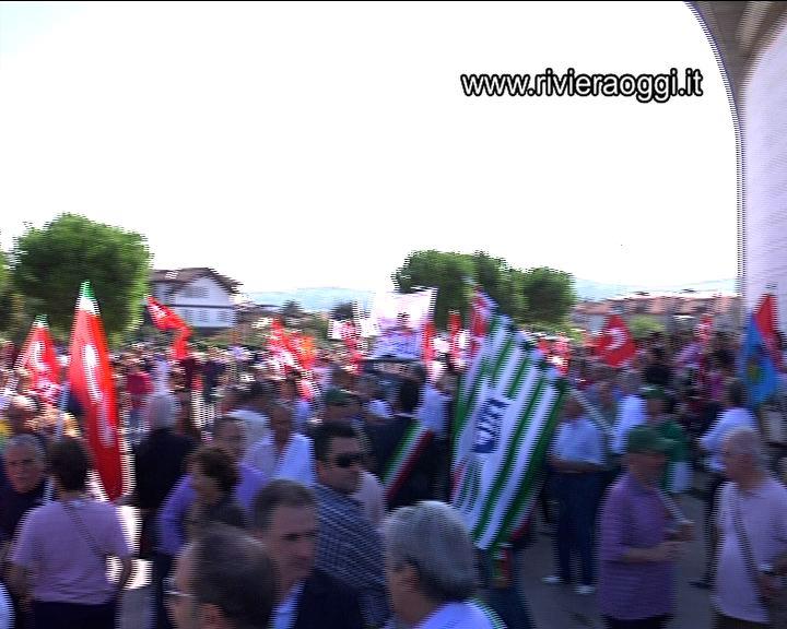 Un momento della Marcia per il Lavoro nel Piceno