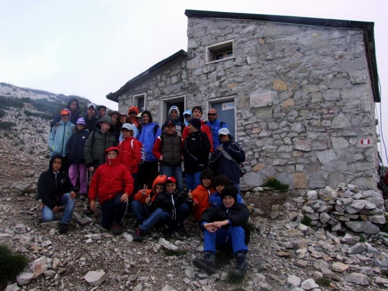 I ragazzi della parrocchia di Fosso dei Galli durante il camposcuola sui Sibillini
