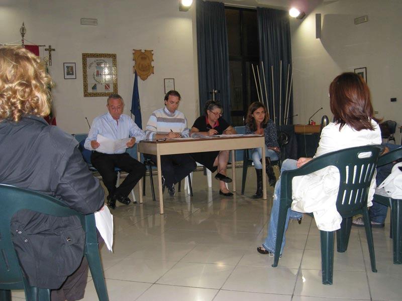 Presenti al Forum Permanente della Cultura il sindaco Di Salvatore, Massimo Vagnoni, Daniela Paci e Stefania Giudice dell'Ufficio cultura del Comune