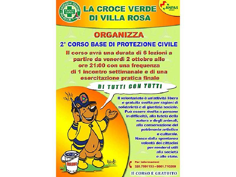 La Croce Verde organizza un corso di Protezione Civile