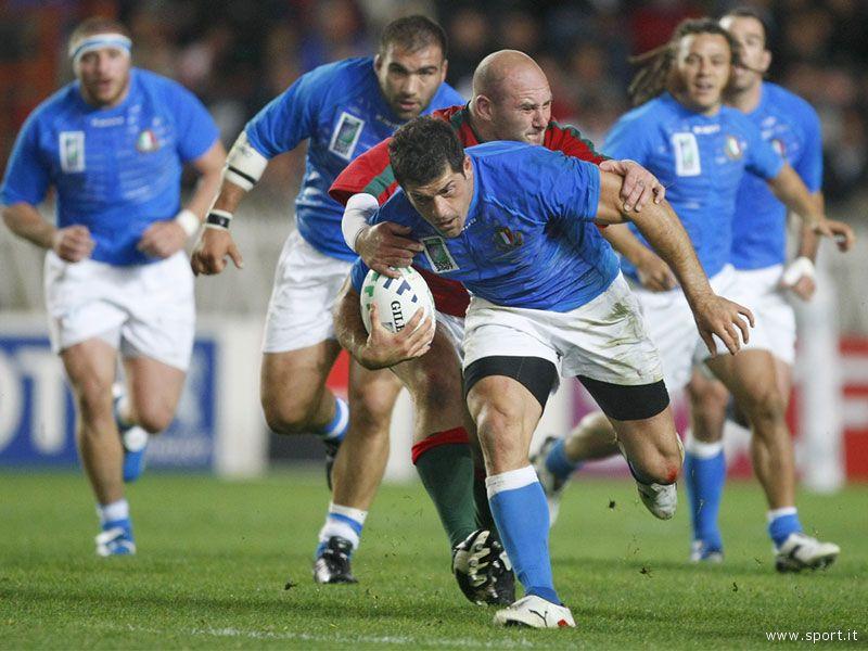 La Nazionale Italiana di rugby in azione