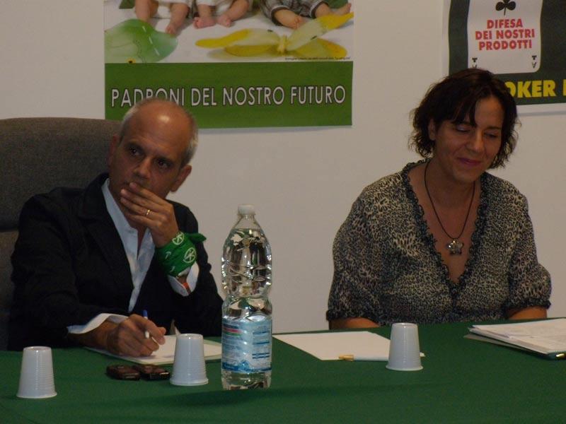 L'onorevole Marco Rondini e Simona Tavoletti