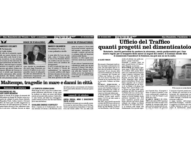 Riviera Oggi numero 796: un estratto da pagina 4 e 5