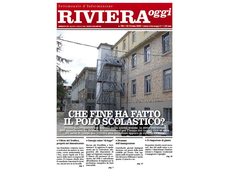 Riviera Oggi numero 796: la copertina per l'edizione di Cupra Marittima