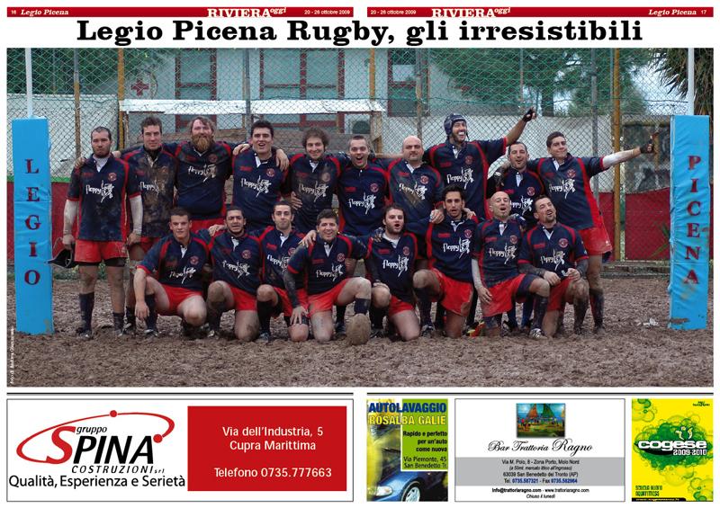 Il poster della Legio Picena: da non perdere su Riviera Oggi numero 796
