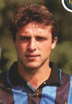 Massimo Ciocci ai tempi in cui giocava nell'Inter, alla fine degli anni '80