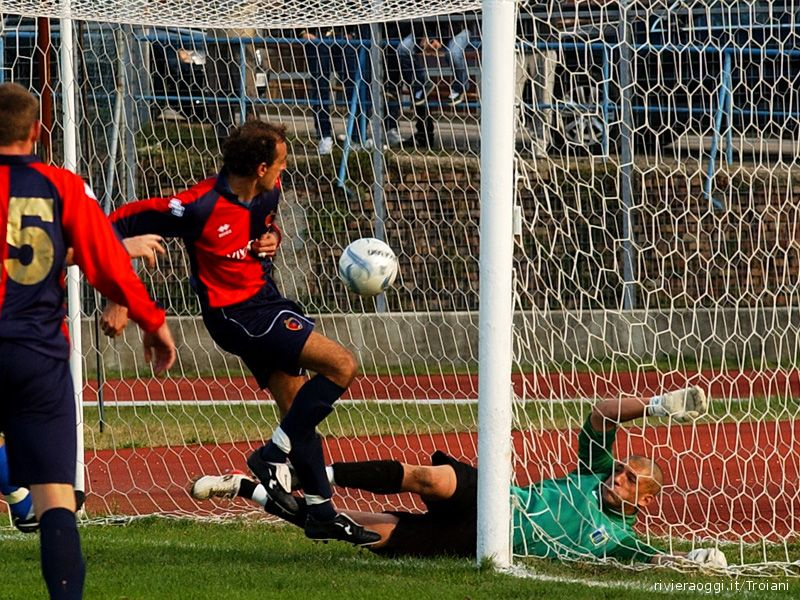Il gol di Marco Pulcini, inaspettato capocannoniere rossoblu