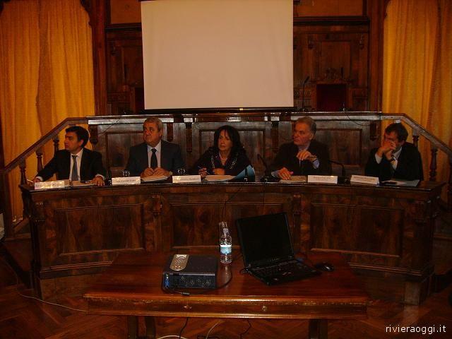 Da sinistra: Piscitelli, Curzi, Sbarbati, Celani e Falcioni