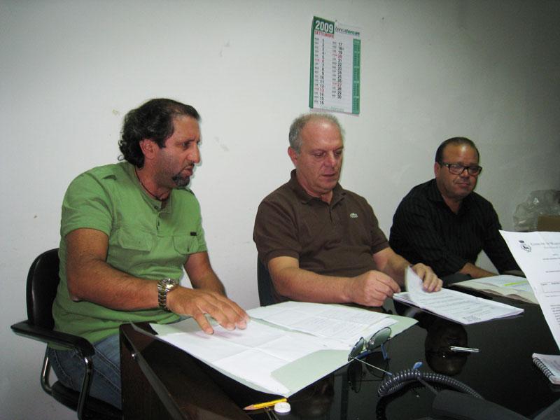 Toni Lattanzi, Luigino Fedeli e Gianfranco De Luca nel corso della conferenza stampa di mercoledì 30 settembre