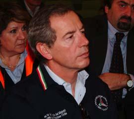 Il capo della Prototezione Civile Guido Bertolaso