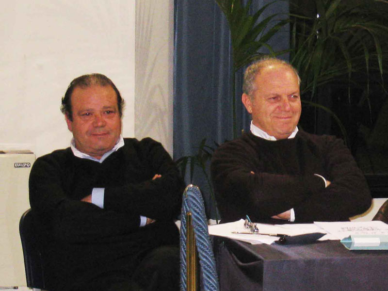Il gruppo consiliare degli ex An, Gianfranco De luca e Luigino Fedeli