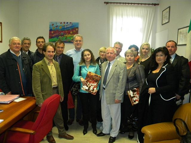 Il presidente Celani e i sindaci del territorio con la delegazione moldava