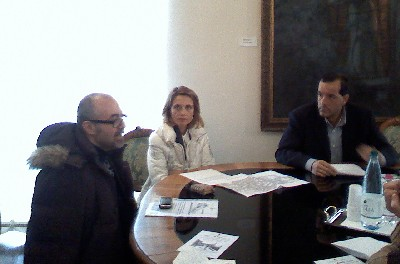 Da  sx: l'Assessore al Turismo Cesare Celani, dott.ssa Romina Pica e l'Assessore allo Sviluppo Economico, Massimiliano Di Micco.