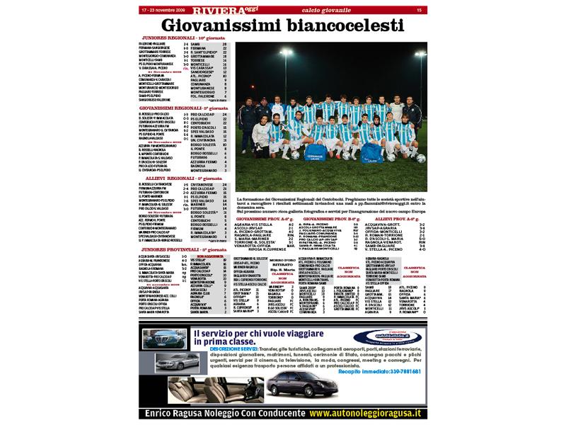 Riviera Oggi: il calcio giovanile come non l'avete mai visto