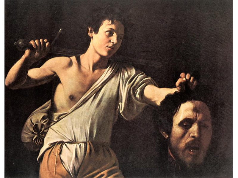 Davide e Golia in una celebre tela del Caravaggio: l'amministrazione comunale di Ascoli prova ad intepretare le gesta del personaggio biblico contro il