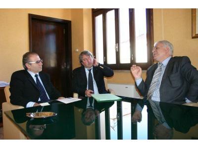 Il presidente Catarra, Renato Rasicci e Nazareno Guarnieri durante il collquio avuto venerdì 13 novembre