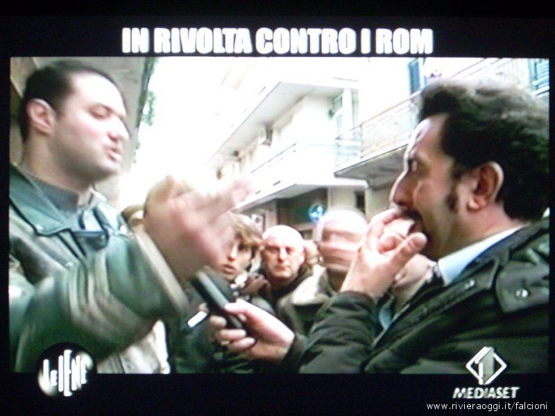 Immagine del servizio di Luigi Pelazza trasmesso a
