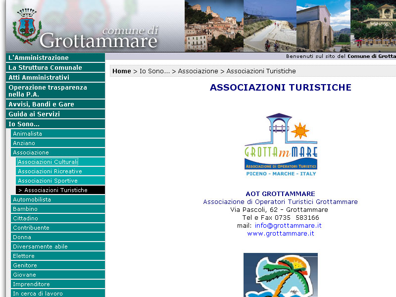 La nuova disposizione sul sito web del Comune
