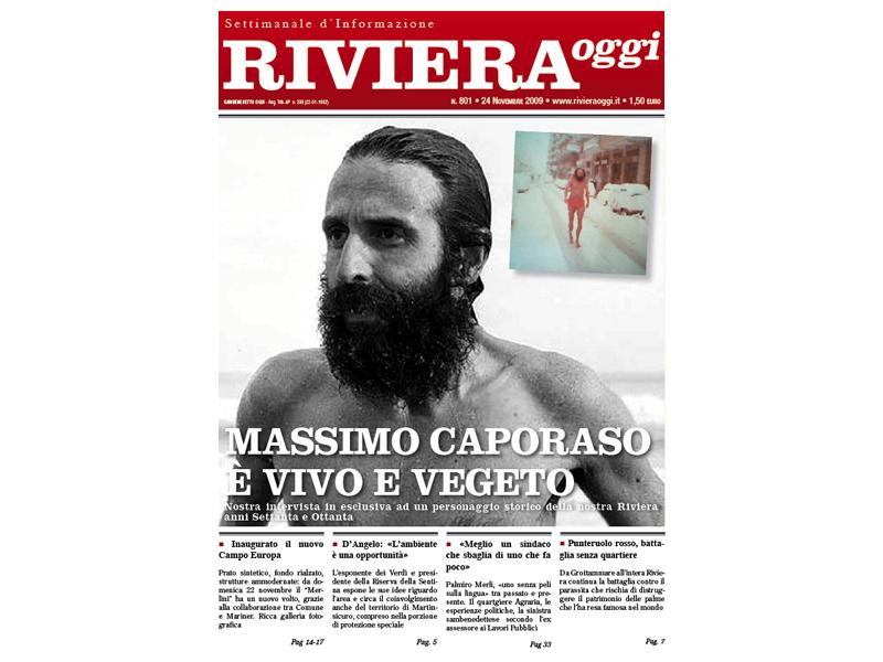 La leggenda dell'uomo atermico: Riviera Oggi, copertina del numero 801
