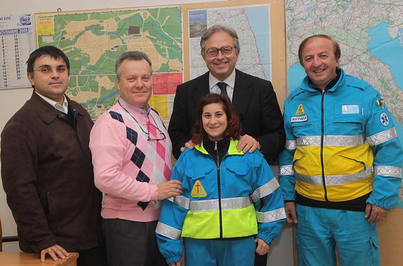 Gian Mario Spacca in visita alla Misericordia di Ascoli Piceno