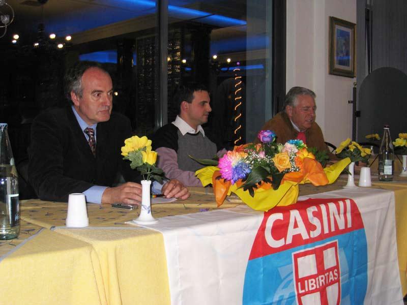 Alcuni esponenti dell'Udc di Martinsicuro: Marcello Monti, Concetto Di Francesco e Abramo Micozzi