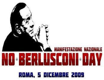 Il 5 dicembre si terrà a Roma il No-Berlusconi Day
