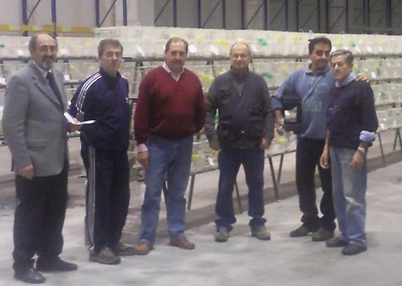 Gli organizzatori della Mostra Ornitologica del Piceno