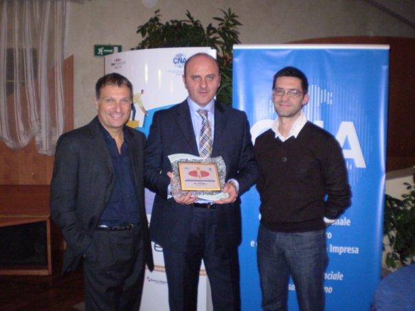 Re e Mascetti con il giornalista Rai Luca Pagliari