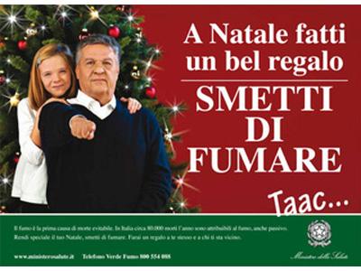 Renato Pozzetto nella campagna antifumo realizzata per il Ministero della Salute