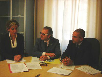 L'assessore Guardiani, il presidente Catarra e Michele Resta