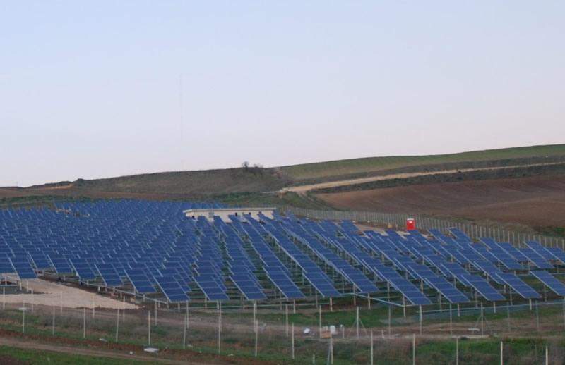 Una porzione dell'impianto fotovoltaico di Gravina di Puglia
