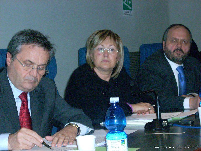 Almerino Mezzolani, Giulietta Capriotti e Giovanni Gaspari