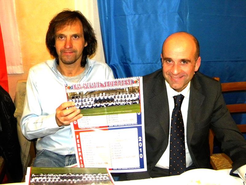 Ex assessori allo Sport a confronto: a sinistra Pierluigi Tassotti, attuale dirigente Samb, a destra Eldo Fanini