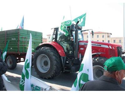 Una manifestazione della Confederazione Italiana Agricoltori