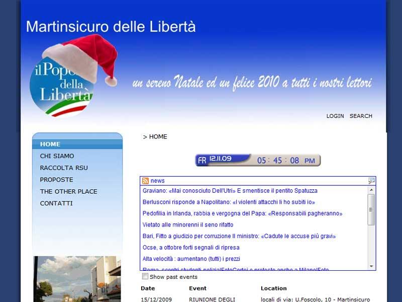 Il sito www.martinsicurodelleliberta.it