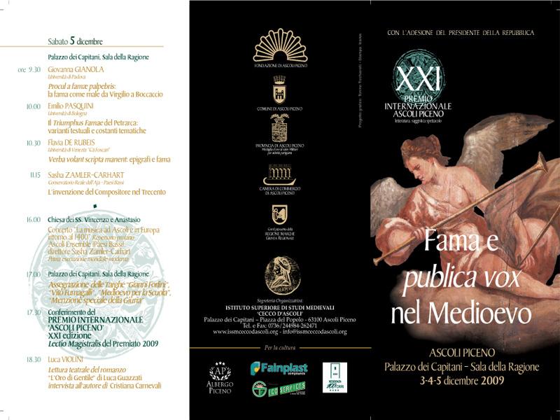 Il programma del Premio Internazionale Ascoli Piceno