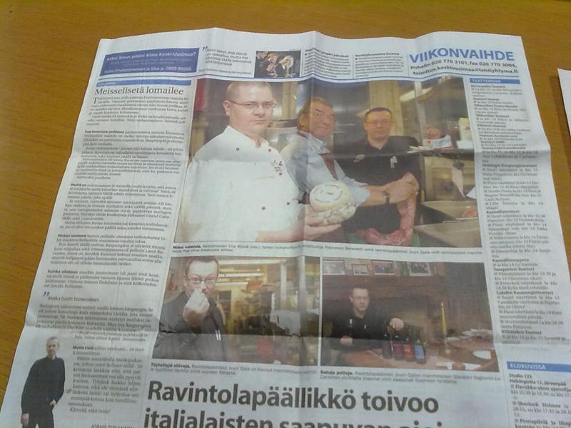 Prodotti tipici piceni...in Finlandia
