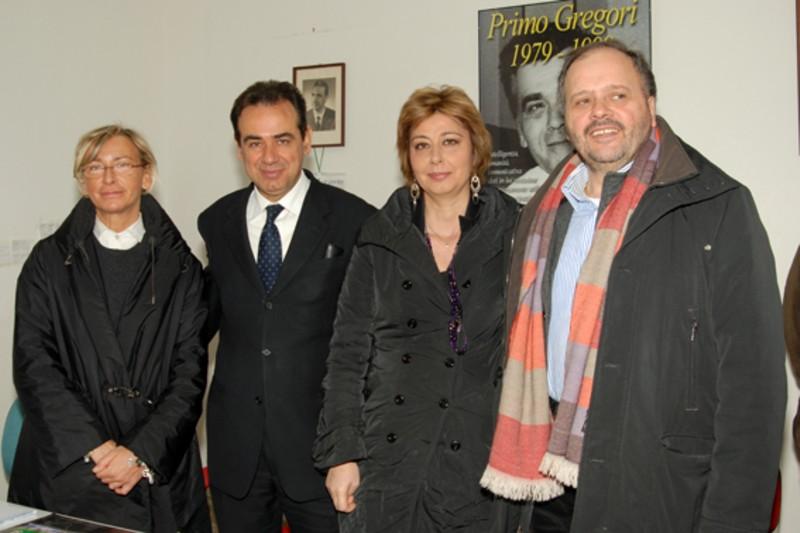 Margherita Sorge, Pietro Colonnella, Lorella Bovara e il sindaco Gaspari
