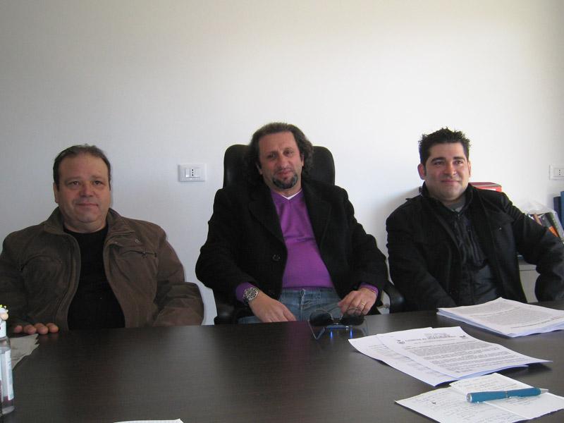 Gianfranco De Luca, Toni Lattanzi e Luigi Galiffa (componente del Direttivo dell'Ex An)