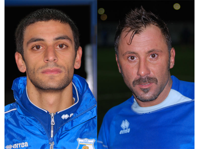 Capretta e Ventresini, autori del 2-0 con il Valle del Gran Sasso