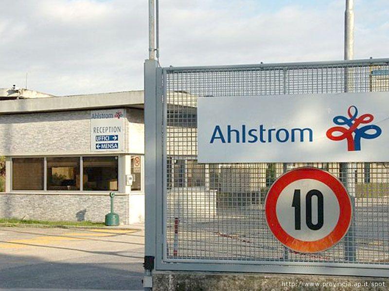 Lo stabilimento Ahlstrom di Ascoli