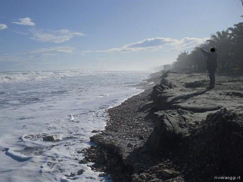 Erosione a sud del Tesino, 9 gennaio 2009