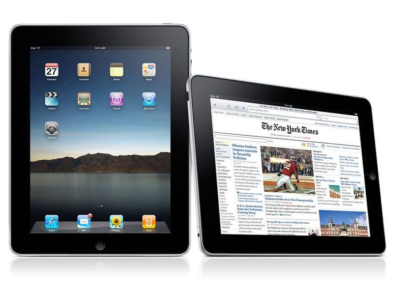 L'iPad visto in posizione verticale ed orizzontale: sarà un successo o un flop? (immagine da www.apple.com)