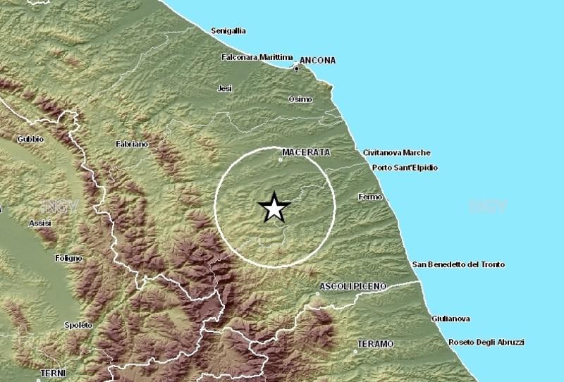 Le località dello sciame sismico